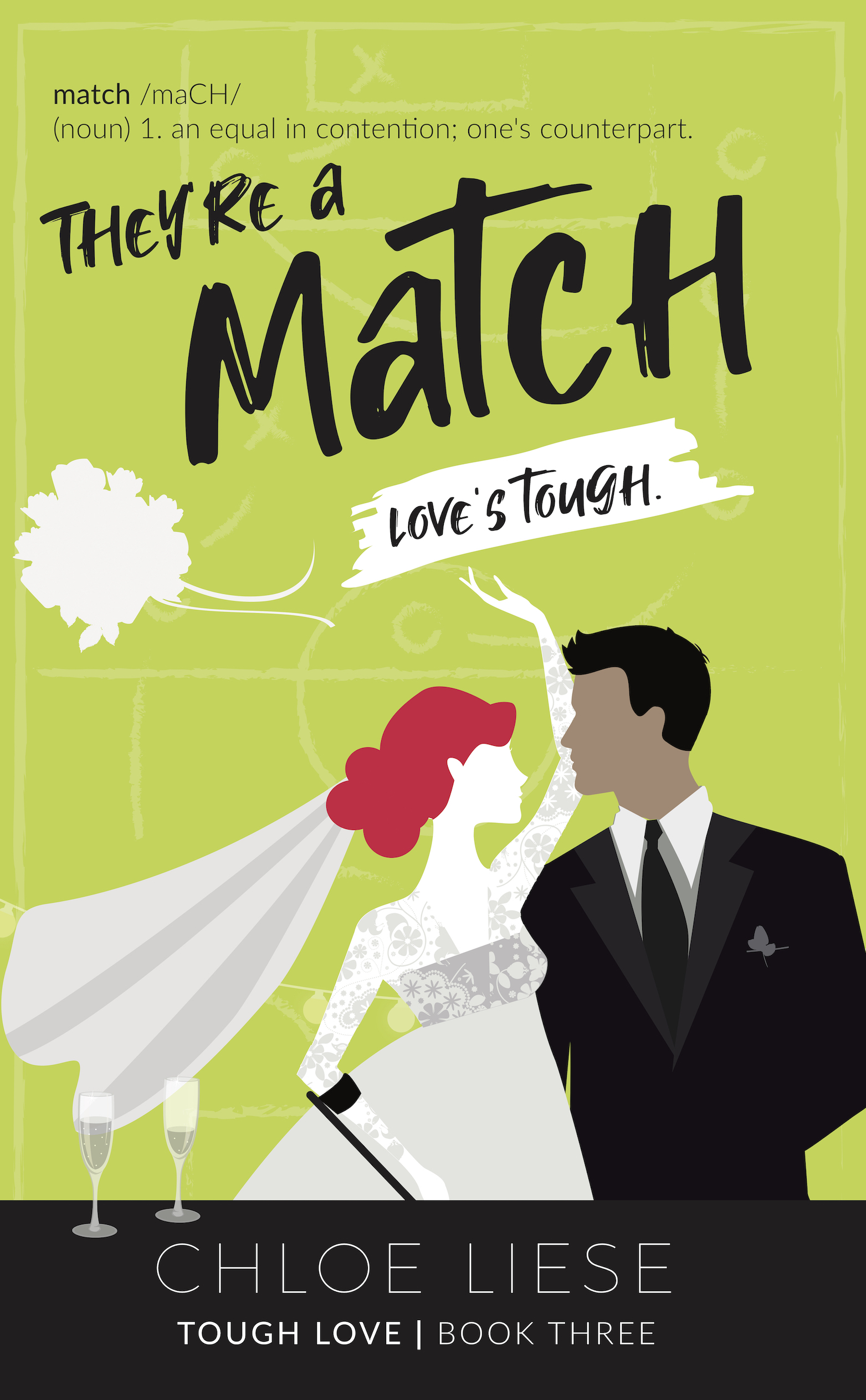 They're a Match book cover design by Chloe Liese