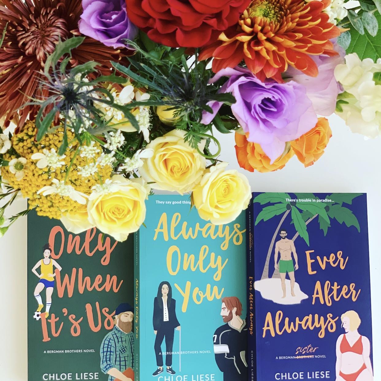 Bergman Brothers series book covers by Chloe Liese