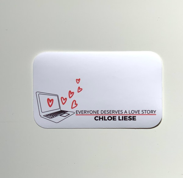 Bookplate sticker for personalization by Chloe Liese